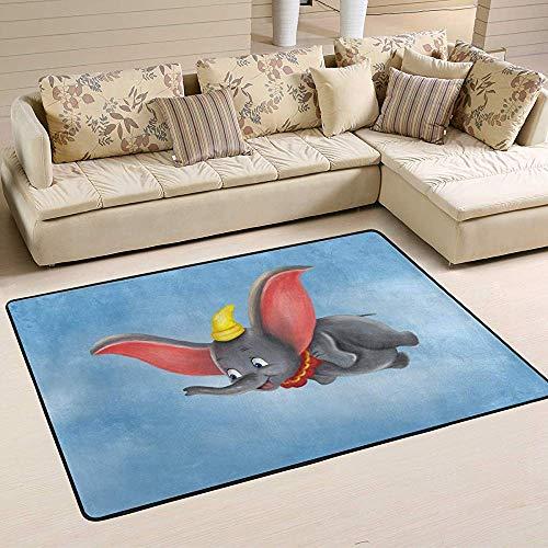 If Not Alfombra Linda del área de la Mosca del Elefante de Dumbo Alfombra Suave Antideslizante del Piso Alfombra Lavable para la Sala de Estar del Dormitorio
