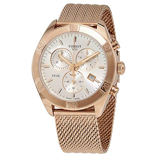 Tissot womens PR 100 Sport Chic Stainless Steel Casual Watch...