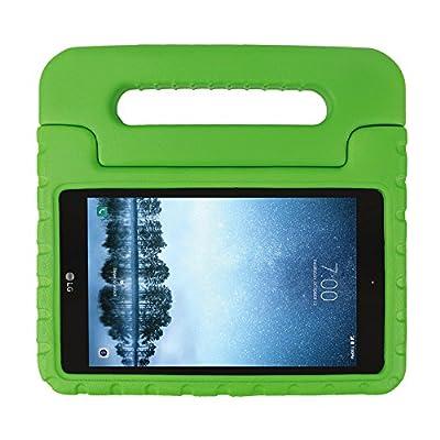 SIMPLEWAY LG G Pad F2 8.0 Case/LG G Pad X2 8.0 Plus Case, Lightweight Kid-Proof Handle Stand Cover Fit LG GPad F2 8.0 Sprint LK460 / LG GPad X2 8.0 Plus V530 8inch Tablet 2017 Release (Green)