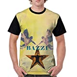 YESUJIDU Bazzi Shirt Cusual Short Sleeved Unisex T-Shirt Front Print with HD 3D (S) Black