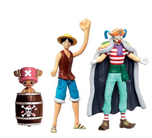 ONE PIECE Action Figure 12cm pack spécial Luffy Baggy Chopper