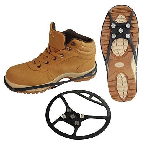 Emanhu Trading Schuh Spikes Schuhketten Gleitschutz Universal vers. Arten (43-48, Typ 4 (schwarz))