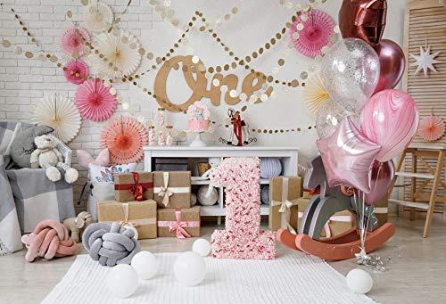 Fondos de cumpleaños de flamencos para fotografía Globo Rosa Flor Pastel Postre Pared bebé Retrato Foto Fondos A15 1,5x1 m