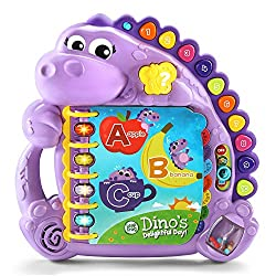 LeapFrog Dino's Delightful Day Alphabet Book, electronic toys for kids, electronic gifts, toddler electronics, learning toys for toddlers, childrens electronic toys, musical toys, best electronics for kids, cool toys for kids, electronic educational toys, electronic games for kids, developmental toys, interactive toys, early learning toys, Tech Toys for kids
