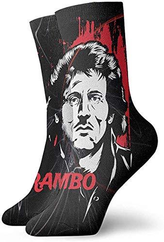 Yesbnow Kurze Socken John J. Rambo Canada Unisex Women Mens Dress Funny Crazy Winter Warm Crew Socks