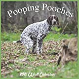 Pooping Pooches 2021 Wall Calendar: Offical Pooches Gag Gifts Calendar 2021, Very Funny Gift 18 Months Calendar
