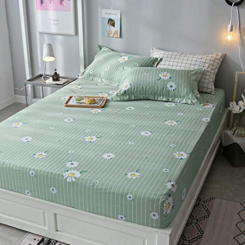 huyiming Verwendet für bedrucktes Baumwolltwill- Blattmaterial 1,8 m Bettdecke Simmons-Matratze, rutschfeste Schutzhülle 120 * 200 cm