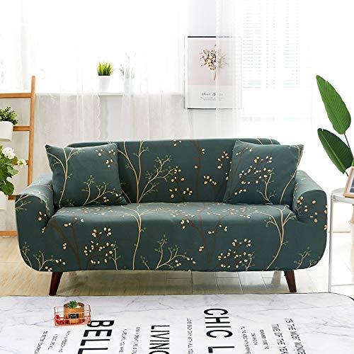 WXQY Funda de sofá de combinación Flexible para Sala de Estar, Funda de sofá con Todo Incluido, Funda Protectora de sofá a Prueba de Polvo, Funda de sofá A21 de 2 plazas