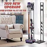 Foho Vacuum Stand for Dyson,Stable Metal Storage Bracket Stand Holder for Dyson Handheld V6 V7 V8 V10 DC30 DC31 DC34 DC35 DC58 DC59 DC62 Cordless Vacuum Cleaners & Accessories & Attachments (Black)