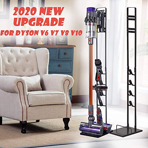 Foho Vacuum Stand for Dyson,Stable Metal Storage Bracket Stand Holder for Dyson Handheld V6 V7 V8 V10 DC30 DC31 DC34 DC35 DC58 DC59 DC62 Cordless Vacuum Cleaners & Accessories & Attachments (Black)