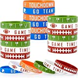 ZJZ Rugby Football Silicone Bracelet Bracelet Football GO Team Time Jeu (Color : Green)