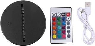 BIOBEY LED de noche 3D Base de lámpara de luz Interruptor de sensor táctil de control remoto ABS portátil Base de lámpara de noche de 7 colores para sala de estar de dormitorio (10PCS)