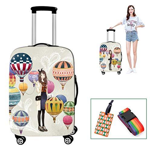 Yeah-hhi Koffer-Abdeckung, elastisch, Polyester, Spandex, wiederholtes Waschen, nicht verblassend, Gepäckabdeckung für 45,7–81,3 cm, Größe 3, M