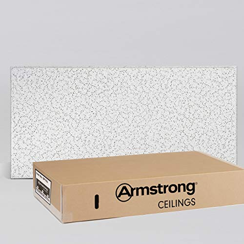 Armstrong Ceiling Tiles; 2x4 Ceiling Tiles - Acoustic Ceilings for Suspended Ceiling Grid; Drop Ceiling Tiles Direct from the Manufacturer; CORTEGA Item 703 – 10 pcs White Tegular