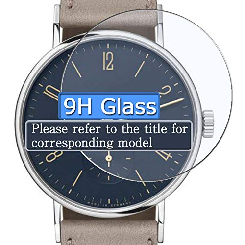 Vaxson 3 Stück 9H Panzerglasfolie, kompatibel mit Brooklyn Watch Co. BW-8128-BQ-01-LBRW, Panzerglas Schutzfolie Displayschutzfolie Smartwatch Armbanduhr
