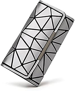 Women Geometric Luminous Fashionable Clutch Handbag Wallet for Evening Party