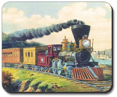 Currier & Ives: Express Train - Art Plates Brand Mouse Pad