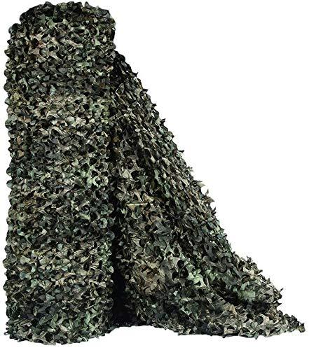 KSS Camo Tarnnetz – Ideal als Sonnenschutz Tarnung Sichtschutz – Für Bars Garten Camping Freizeit Tierbeobachtung und vieles mehr - Verschiedene Größen und Farben - Camouflage (Tree Camo 2, 1.5x6 M)