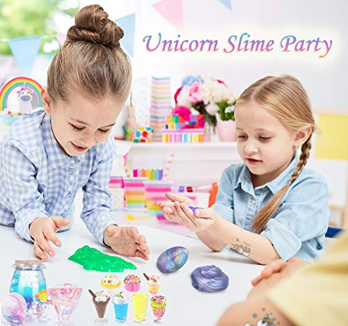 KiddosLand Unicorn Crystal Slime Kit for Girls Boys Unicorn Gifts for Kids Party Inclusive Glow in The Dark Slime Making… 8