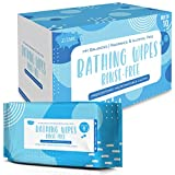 JJ CARE No Rinse Bathing Wipes for Adults, Disposable Shower Wipes (80 Count Total) Adult Bathing Wipes for Travel & Gym with Aloe Vera, Camping Shower Wipes Rinse Free [Pack of 10/ 8 Wipes per Pack]