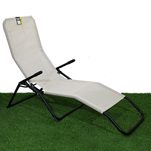 Rocker Lounger Cream Sun Chair Recliner
