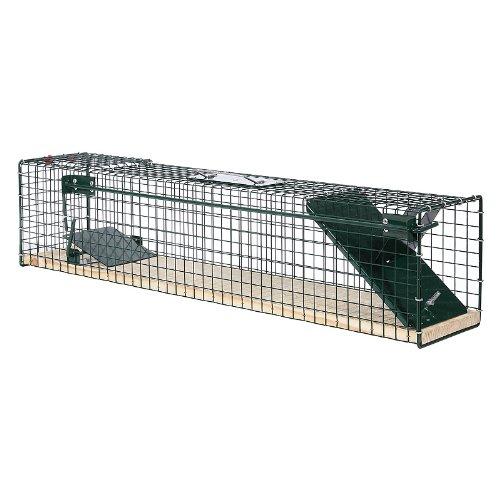 Moorland Piège de Capture - Cage A Une entrée - pour Petits Animaux Lapins, Chats, martres, fouines Poignée - 80x15x19cm - 6042