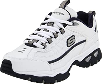 Skechers mens Energy Afterburn road running shoes White/Navy,14 2E