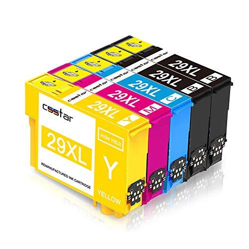 CSSTAR Compatible Cartuchos de tinta Reemplazo para Epson 29XL para Expression Home XP-245 XP-342 XP-442 XP-235 XP-432 XP-332 XP-335 XP-435 XP-247 XP-445 XP-345 Impresora - Negro Cian Magenta Amarillo
