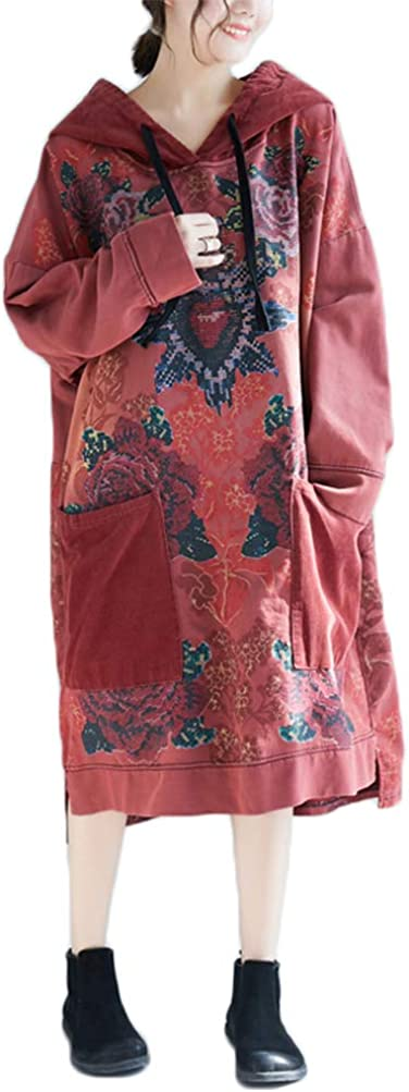 FTCayanz Women's Causal Fall Floral Sweatshirts Co 期間限定今なら送料無料 Hoodies Loose 大注目
