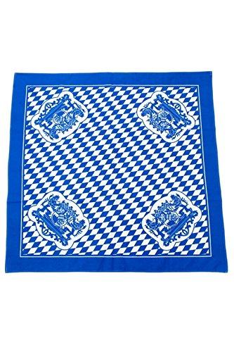Bavariashop Tischdecke Bayern, 80 x 80 cm, Rauten, 100% Baumwolle, Blau Weiß, Bayern Wappen, Picknickdecke