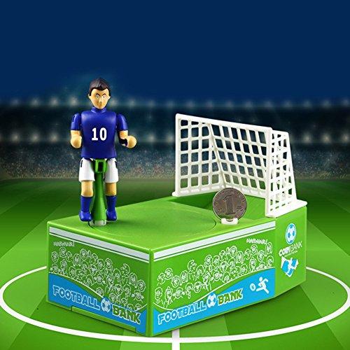 RONSHIN Balón de fútbol Creativo de Piggy Bank Jugador Patentado de fútbol Goal patear Divertido Novedad Money Box Banco de Moneda Gran Regalo para los fanáticos del fútbol