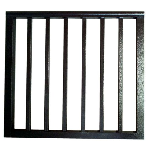 Contractor Deck Railing 36in x 42in Aluminum Commercial Gate - Hammered Black
