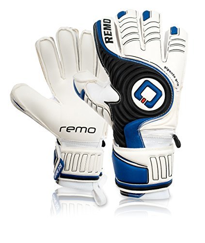 REMO Sports Giganto Fingersave Latex Torwarthandschuhe (blau, 9)
