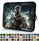 Funky Planet 13' inch Laptop Sleeve Case Bag Compatible with Apple MacBook air pro Dell Lenovo Samsung Asus Computer Tablet or Ipad (Soldier with Gun)