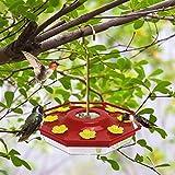 Ordenado Hummingbird Feeder, 16 oz Fluid Hummingbird Feeder for Outdoor, Hanging Bird Feeder with 8 Feeding Ports, Easy to Fill & Clean, Not Easy to Leak