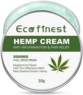 Hamkaw Hemp Balm 5000mg for Pain Relief, 100% Organic Natural Hemp Herbal Extract Cream for Arthritis, Muscle, Knee, Joint & Back Pain Relief, Anti Inflammatory Hemp Balm 30g