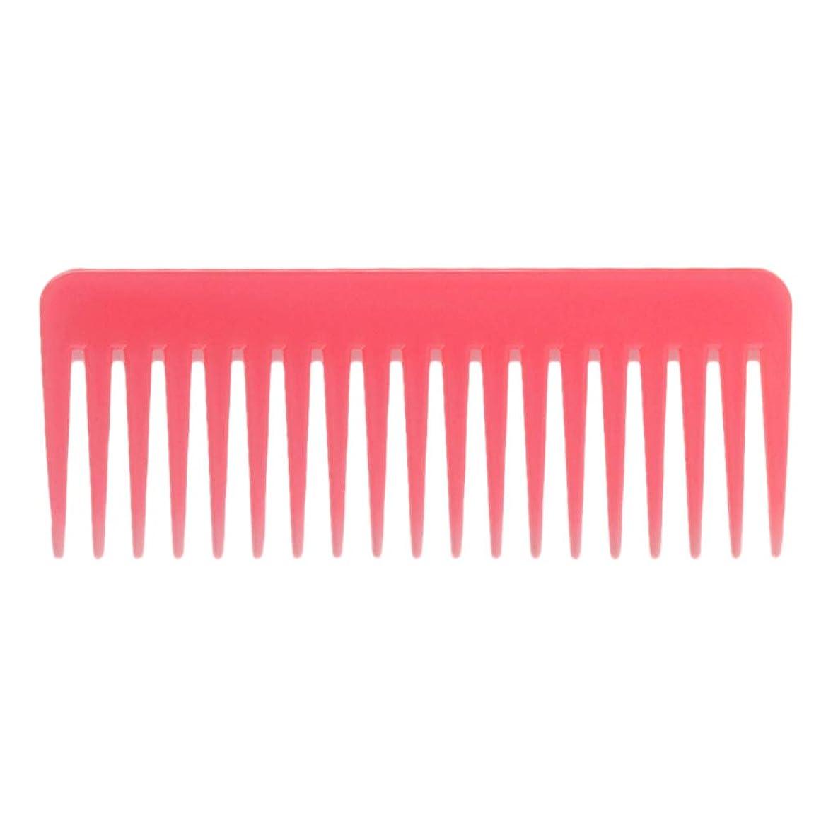 フルーティーいたずらな絞る巻き毛の太い髪用の広い歯のもつれのくしサロンシャンプーヘアブラシくし、6.1 ' - ピンク