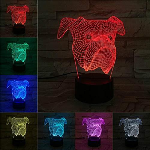 Luifel 3D-nachtlampje kinderen nachtlampje, 7 kleuren veranderende optische illusie kinderlamp - perfect cadeau voor jongens, meisjes met Kerstmis verjaardag of vakantie