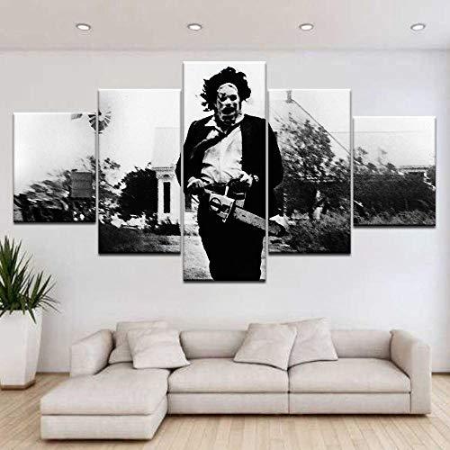 yuanjun Wanddekoration Design Wandbild 5 Teilig Premium Poster Stilvolles Set Mit Passenden Bilder Als Wohnzimmer Deko Bilderrahmen Leinwandbild Das Texas Chainsaw Massacre Poster