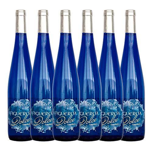 Figueroa Dolce. Vino Semidulce denominación de origen Vinos de Madrid. Botella de 75 cl. en caja de 6 botellas.