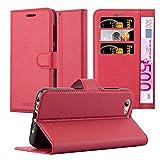 Cadorabo Hülle für HTC ONE A9S - Hülle in Karmin ROT – Handyhülle mit Kartenfach & Standfunktion - Case Cover Schutzhülle Etui Tasche Book Klapp Style