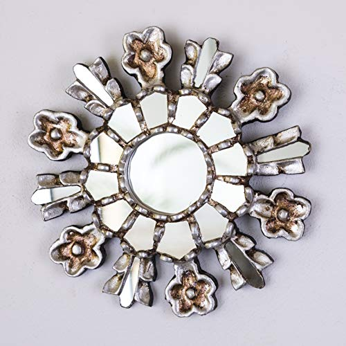 Decorcontreras Silver Sunburst Mirror 7 8 From Peru Ornate Accent Wall Mirror Silver Sunflower Peruvian Handcarved Wood Mirror For Wall Decor From Amazon Daily Mail