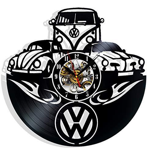 Retro-Auto-Wanduhr mit VW Vinyl-Schallplatten-Motiv, Geschenkidee, beste Freunde, Geburtstage, Dekoration, Kunst