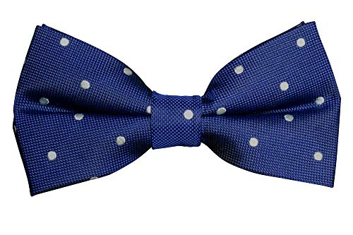 Fliegenfaenger - Pajarita - para hombre Azul Blau weiss Punkte Talla única
