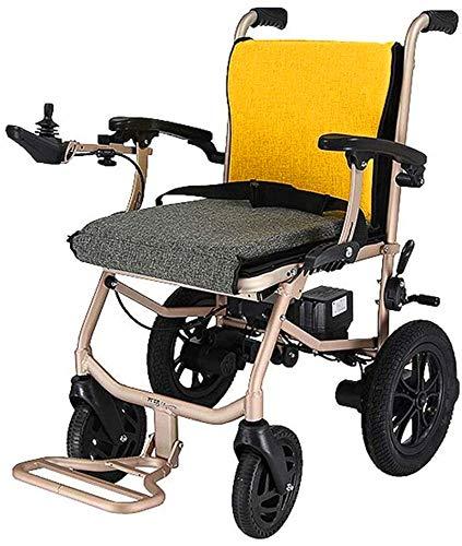 Silla de Ruedas eléctrica Plegable, Silla de ruedas, 2020 Silla de ruedas eléctrica plegable, Ultra-Light portátil silla de ruedas 2X5.2Ah batería de litio, compacto y de moda práctica asistida silla