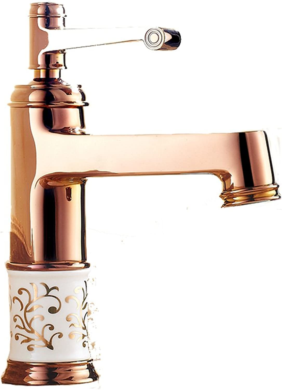 Bidet Taps pink gold Faucet Copper Hot And Cold Single Hole bluee And White Porcelain Bathroom Retro Aperture 32MM To 35MM Can Be Installed