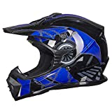 ILM Adult Youth Kids ATV Motocross Dirt Bike Motorcycle BMX MX Downhill Off-Road Helmet DOT Approved...