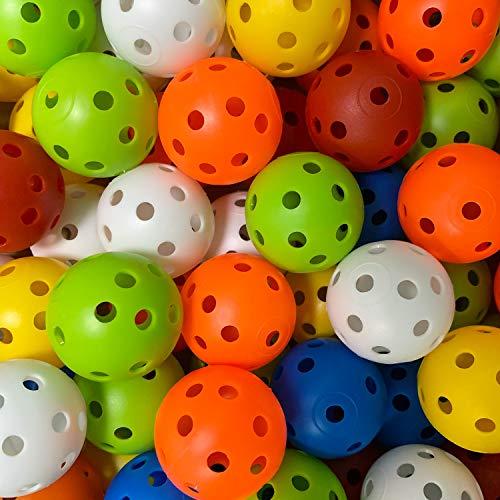CRESTGOLF Plastic Golf Training Balls – Airflow Hollow 40mm Golf Balls for Driving Range, Swing Practice, Home Use,Pet Play.