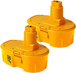 2 Pack 18V 3000mAh DC9096 Battery for Dewalt Compatible with Dewalt 18-Volt Battery XRP DW9095 DW9096 DW9098 DE9039 DE9095 DE9096 DE9098 DC9099 DC9098 Cordless Power Tools,(NiCd)