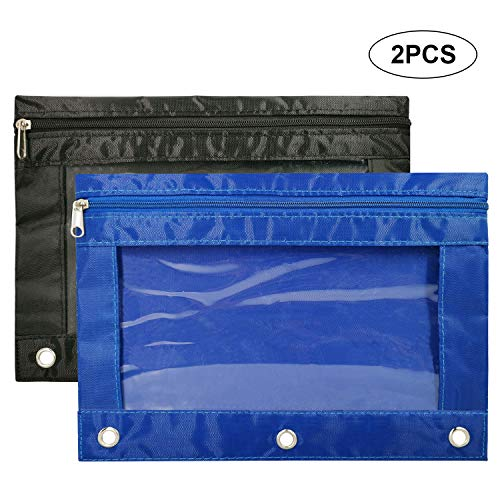Pencil Pouches, Zipper Binder Pencil Pouch...